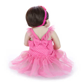 Beautiful 57 cm Reborn Baby Dolls Newborn Princess 23 Inch Full Silicone Vinyl Babies Reborn Wholesale Children\'s Day Gifts Toy
