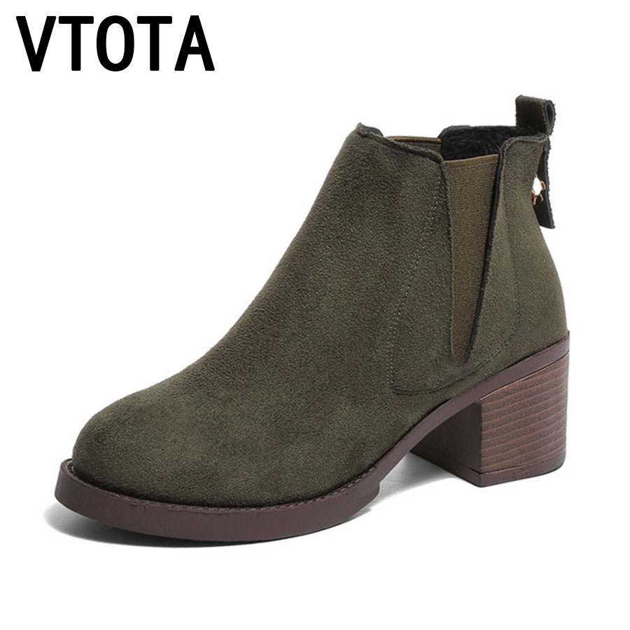VTOTA Women Boots Thick With Women Ankle Boots For Women Botas Mujer Platform Shoes Woman High Heels Autumn Martin Boots E88 platform boots autumn ankle boots for women luxury sexy martin boots botas femininas de inverno botines mujer 2017 ladies shoes