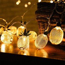 FENGRISE Pineapple String Lights Lighted Flamingo Summer Hawaii Hawaiian Party Decorations Christmas Home Decor