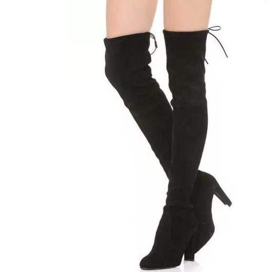 4b859c8a6cd Women Winter Thighland Suede Over-The-Knee Boot Stretch-suede Highland Thigh  High