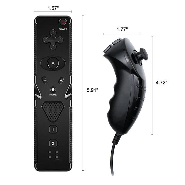 For Wii Controller Without Motion Plus Remote with Nunchuck For Nintend Wii Gamepad Wireless Joystick