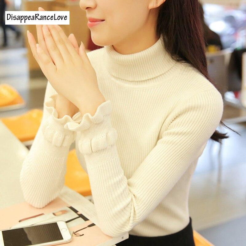 DisappeaRanceLove 2017 diseño Corto suéter manga de soplo de la camisa básica fe