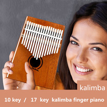 10/17 клавишный палец Kalimba Mbira Sanza «пианино для больших пальцев» карманный размер начинающих поддерживающая сумка клавиатура Marimba деревянный музыкальный инструмент