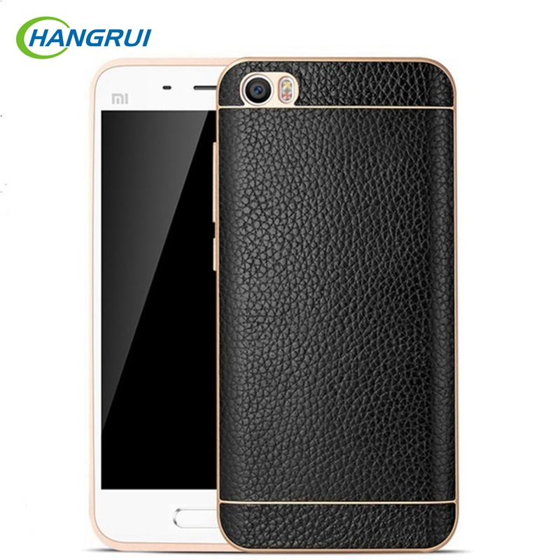 bilder für HangRui Phone Cases Für Xiaomi Mi5 Fall Leder Luxus Aluminium Rahmen Rückseite Fall Für Xiaomi Mi5 M5 5 Pro Prime Fundas Capa