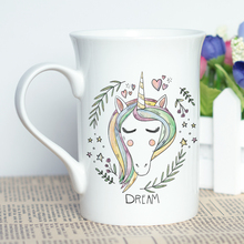 Cartoon Unicorn Printed White Mug