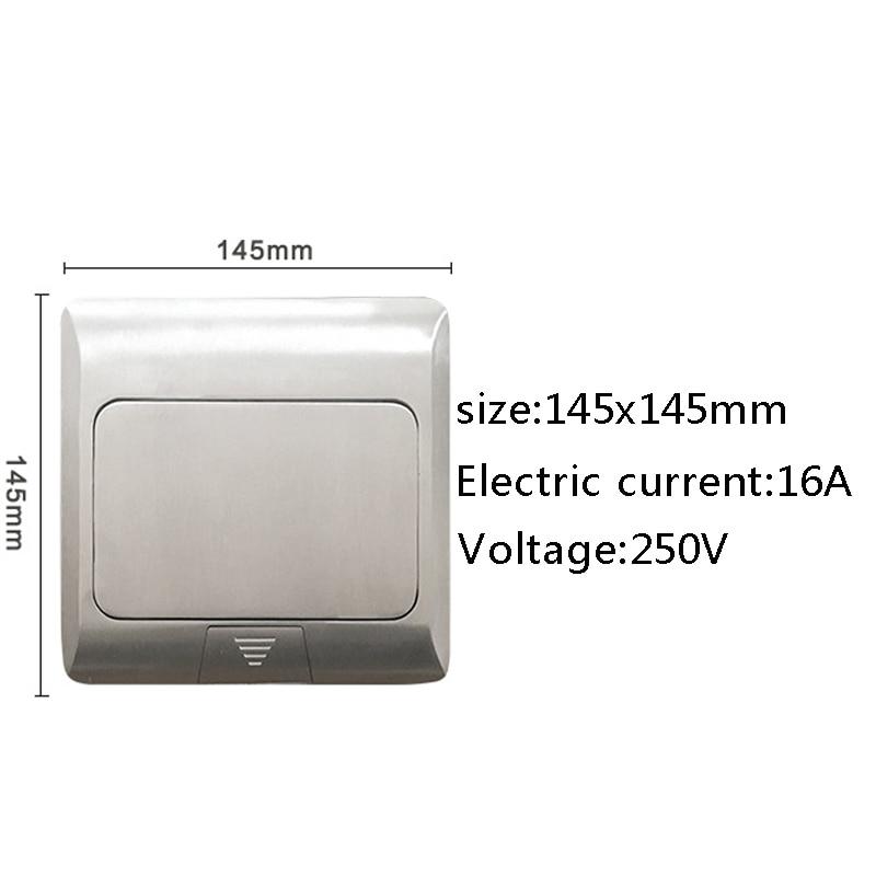 Panneau en aluminium EU Standard Pop Up prise de sol prise électrique 2 voies combinaison modulaire prises disponibles personnalisées - 5