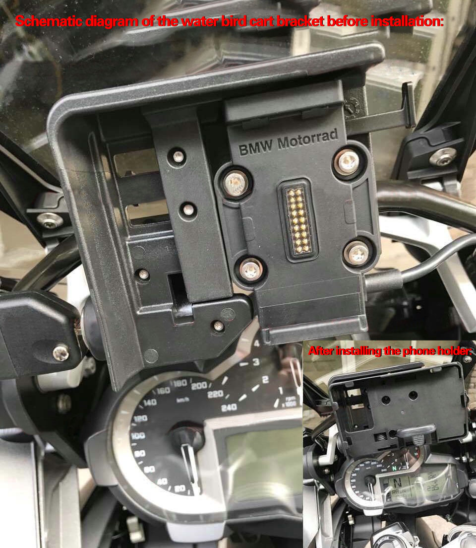 CRF1000L Africa Twin Parts For BMW F700 800GS R1200GS ADV Multi functional Motorcycle Mobile Phone Navigation
