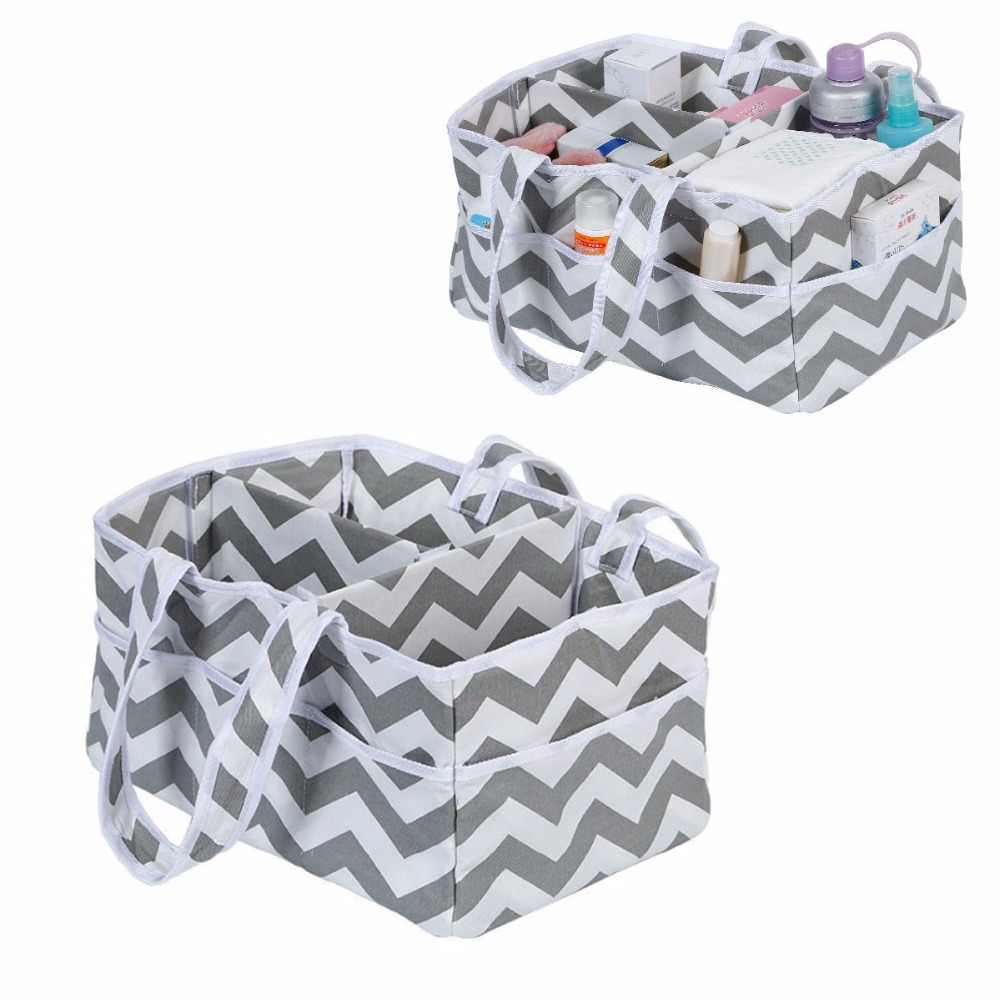 Baby Diaper Caddy Organizer Extra Large,Nursery Storage,Changing Table Bin,Portable Basket Car Travel,Wipes Toys Essentials Bag