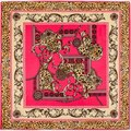 2016 новое поступление 100% саржевые шелковый шарф женщин высокое качество подарок шелковые платки евро дизайн леопарда сеть печать квадратные шарфы