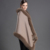 Gennuine Mujeres Ponchos Del Mantón Bufanda caliente de La Moda y Del Cabo-estilo Del Mantón de la Cachemira de Piel de Zorro Poncho Chal Cachecol Moda Femenina lana