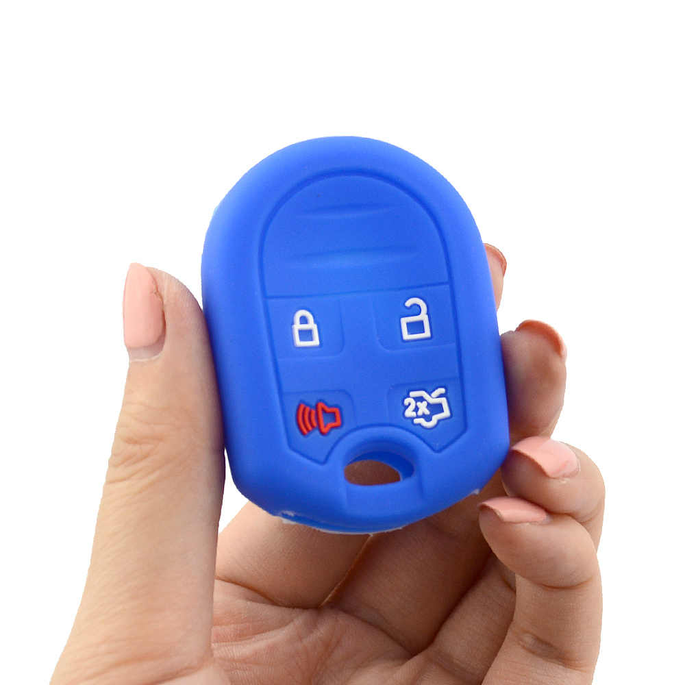 4 кнопки силиконовый мягкий резиновый дистанционного ключа автомобиля чехол Брелок для Ford Телец фокус Escape Explorer край Mustang защитная сумка