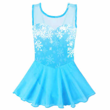 BAOHULU Teen Girls Leotard Cotton Tulle Ballet Dress Kids Snowflake Tutu Ballet Dance Wear Child Ballerina Costume Blue Pink - DISCOUNT ITEM  50% OFF All Category