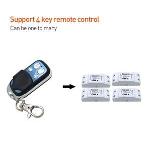Image 3 - SONOFF 433mhz 4 כפתורים ערוץ RF Wifi אלחוטי מרחוק מפתח למידה עותק 4CH מפתח Fob בקרת עבור גוגל חכם בית בקר