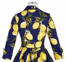 Women winter Vintage Rockabilly Dress 2016 Stock 3/4 Sleeve V-Neck Floral Pattern Retro Vintage Cotton autumn Casual Dresses