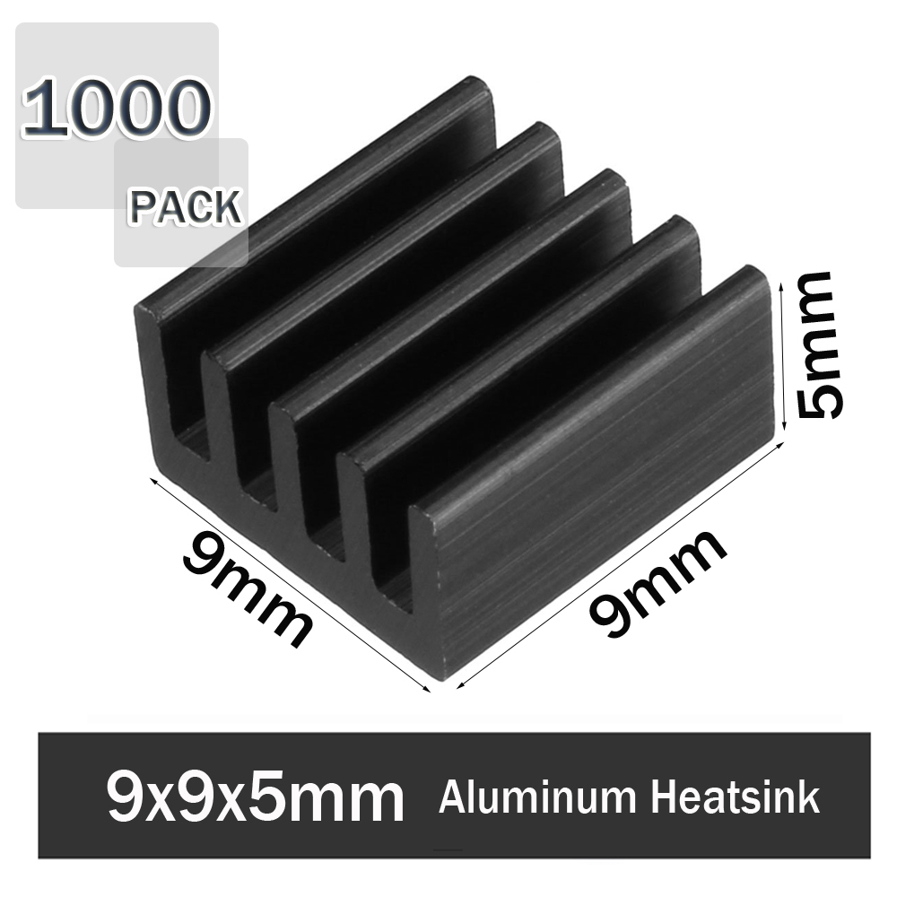 1000Pcs Gdstime 9x9x5mm Aluminum Radiator Heatsink Raspberry PI Accessories Heatsink Cooler for cooling VRM Stepper Driver image