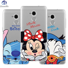 ФОТО demelfu coque for zte blade af3  l110 s6 v6 v7 v7 lite x3(d2) x5 x7 (d6) (v6) z11 mini s silicone cases cat stitch minnie daisy