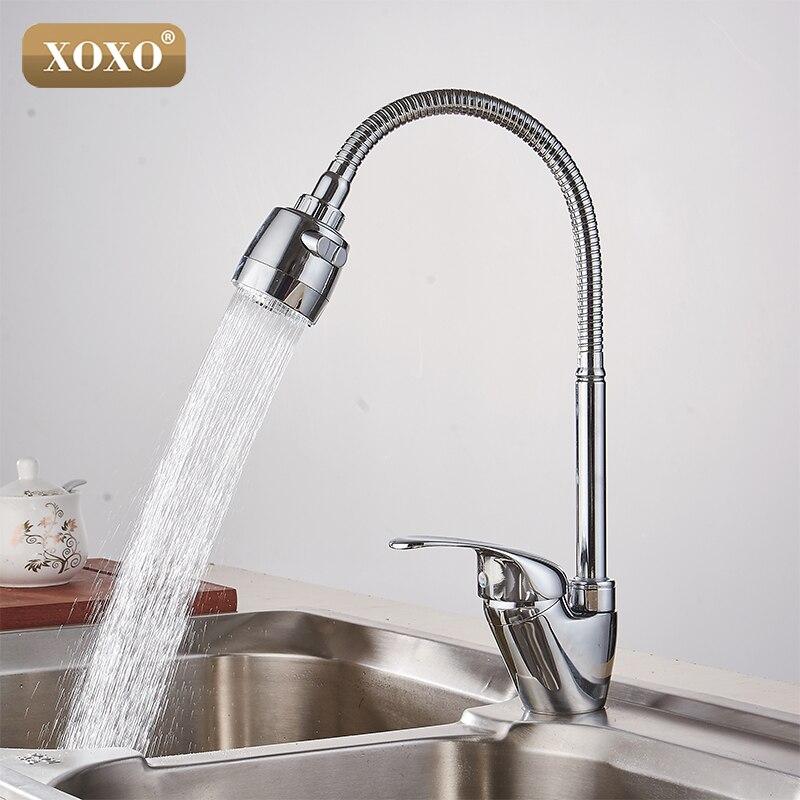 Латунный смеситель XOXO, кухонный кран для холодной и горячей воды, кухонный кран для раковины, многофункциональная стиральная машина для душ...