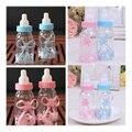 12 unids/lote caja de Dulces Bebé Recién Nacido biberón de plástico Para la fiesta de boda de la boda suministros matrimonio regalos