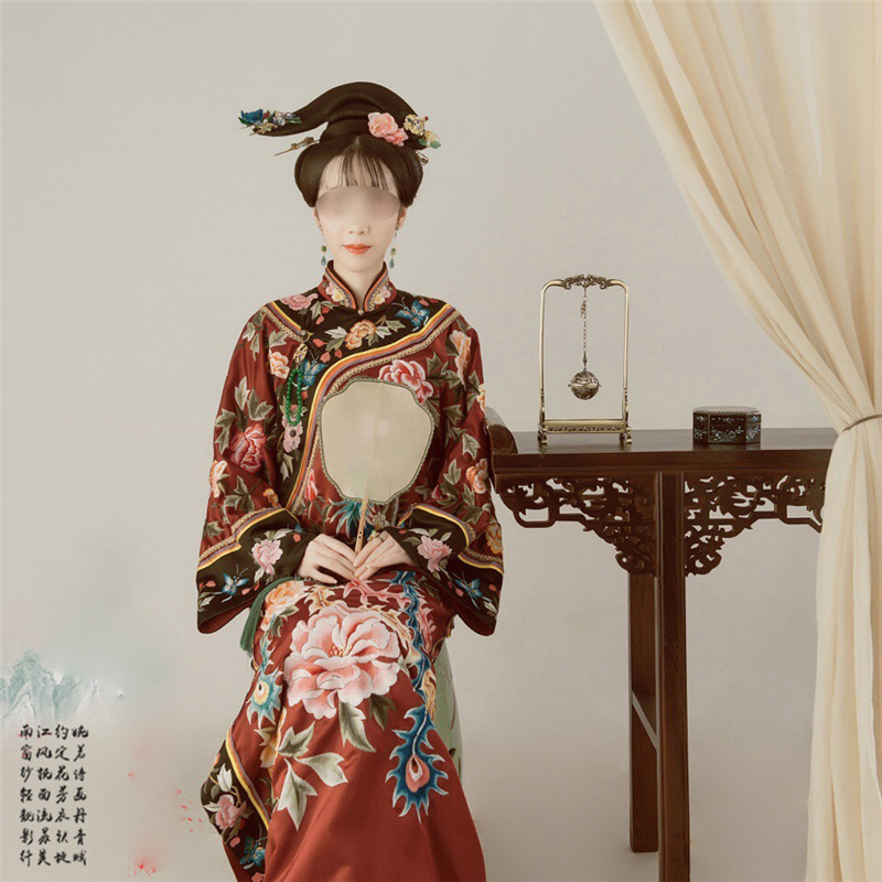 Wu Tou Sha Qing Dynasty Princess Qifu Costume Super High Quality Delicate Embroidery Costume Hanfu For Women TV Play Hanfu