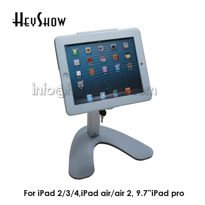 Metal Protable Tablet Computer Alarm Holder Security Display Stand Anti-theft Device Case For iPad 2/3/4/Air With LockMetal Protable Tablet Computer Alarm Holder Security Display Stand Anti-theft Device Case For iPad 2/3/4/Air With Lock