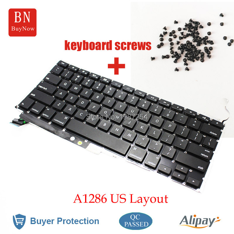 Genuine For Apple Macbook Pro 15'' A1286 US Keyboard With Backlight And Screws 2009 2010 2011 2012