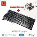 Genuine For Apple Macbook Pro 15'' A1286 US Keyboard With Backlight And Keyboard Screws 2009 2010 2011 2012