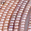 [XF800]natural pearl beads colar real freshwater 9-10mm semi-round fine jewlery for jewelry making loose gemstones[B105]