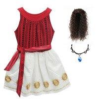 De noël Enfants Filles Moana Robe Bébé Fille Sans Manches Robes de Fête D'anniversaire Enfants Fantaisie Princesse robe de Bal De Mariage Vêtements