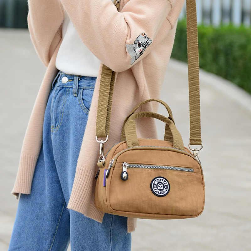 Jin Qiaoer bolsos para mujeres 2018 moda impermeable Nylon mujer bolso elegante hombro bandolera para mujeres