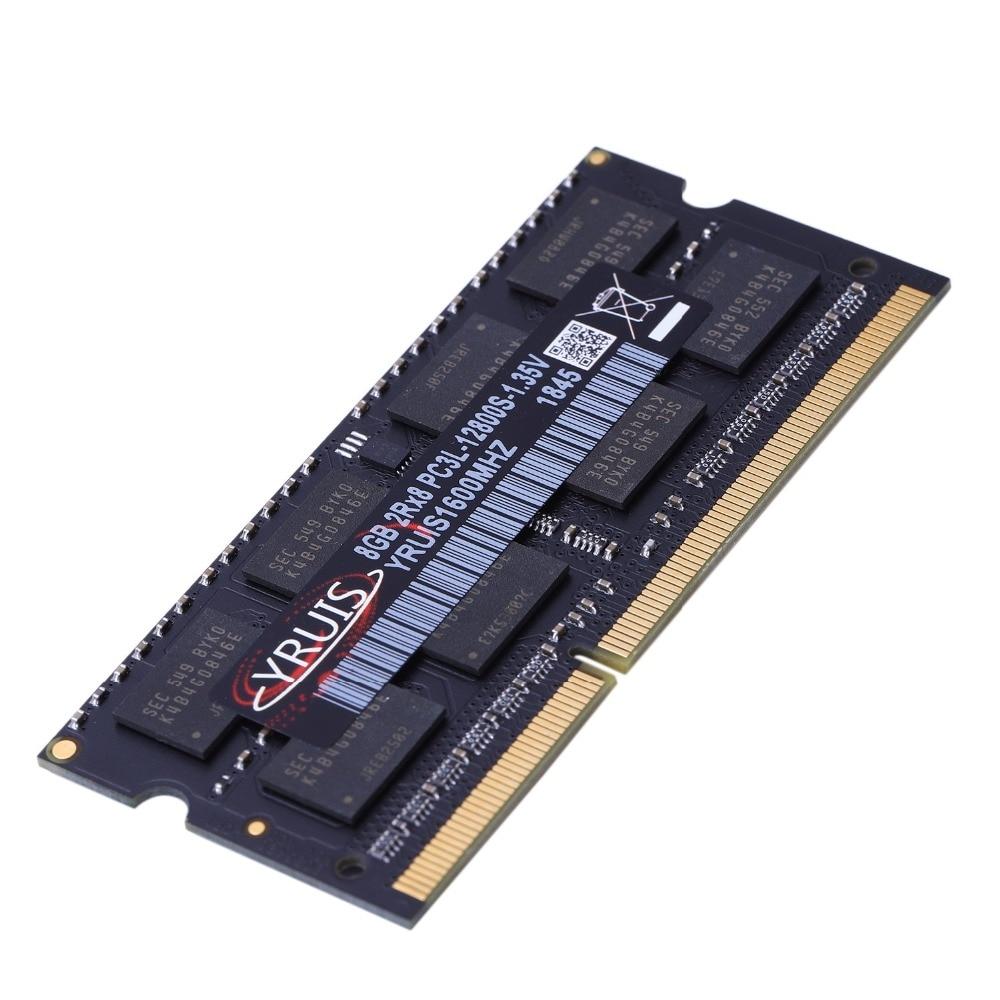 Yruis DDR3 8 GB 1600 MHz Ram Sodimm ordinateur portable Support de mémoire DDR3 ordinateur portable