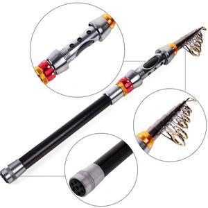 Image 3 - 2.4m Portable Carbon Fiber 9 Sections Fishing Rod Telescopic Sea Fishing Pole Rod Sea Device Fishing Tackle De Pesca