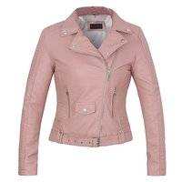 2014 New Fashion Women Leather Zip Up Cropped Navelty Jacket Coat Drop Shipping Support
