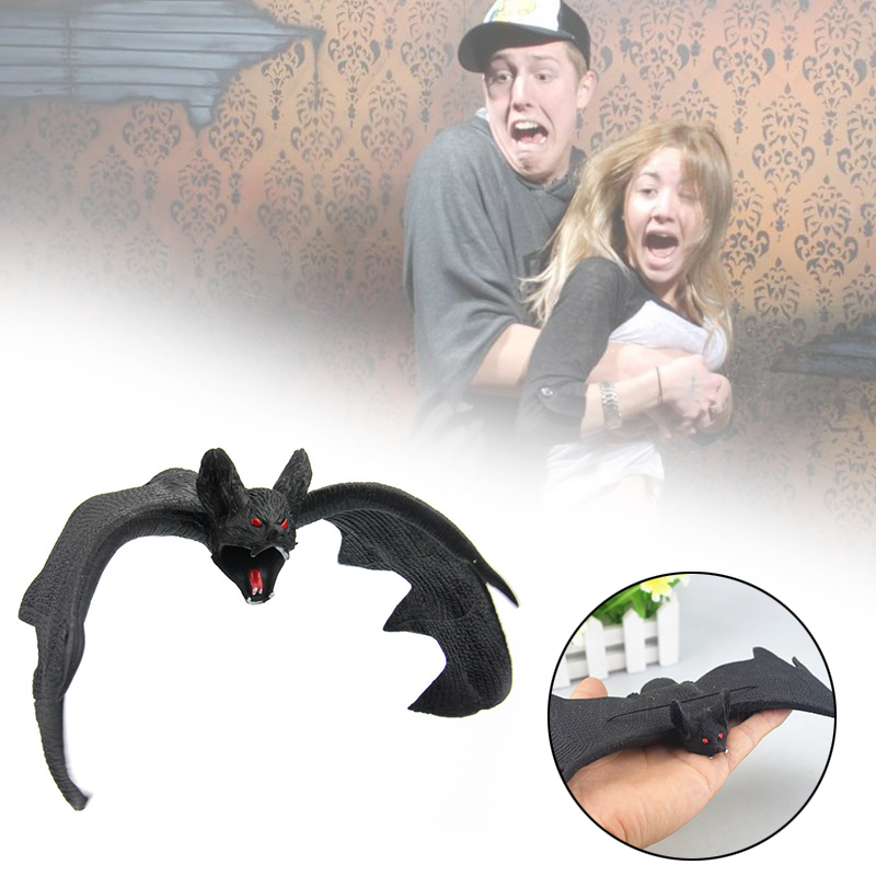 Spooky Horror Halloween Fake Bats Jokes Toys Childrens Gifts Party Decorations