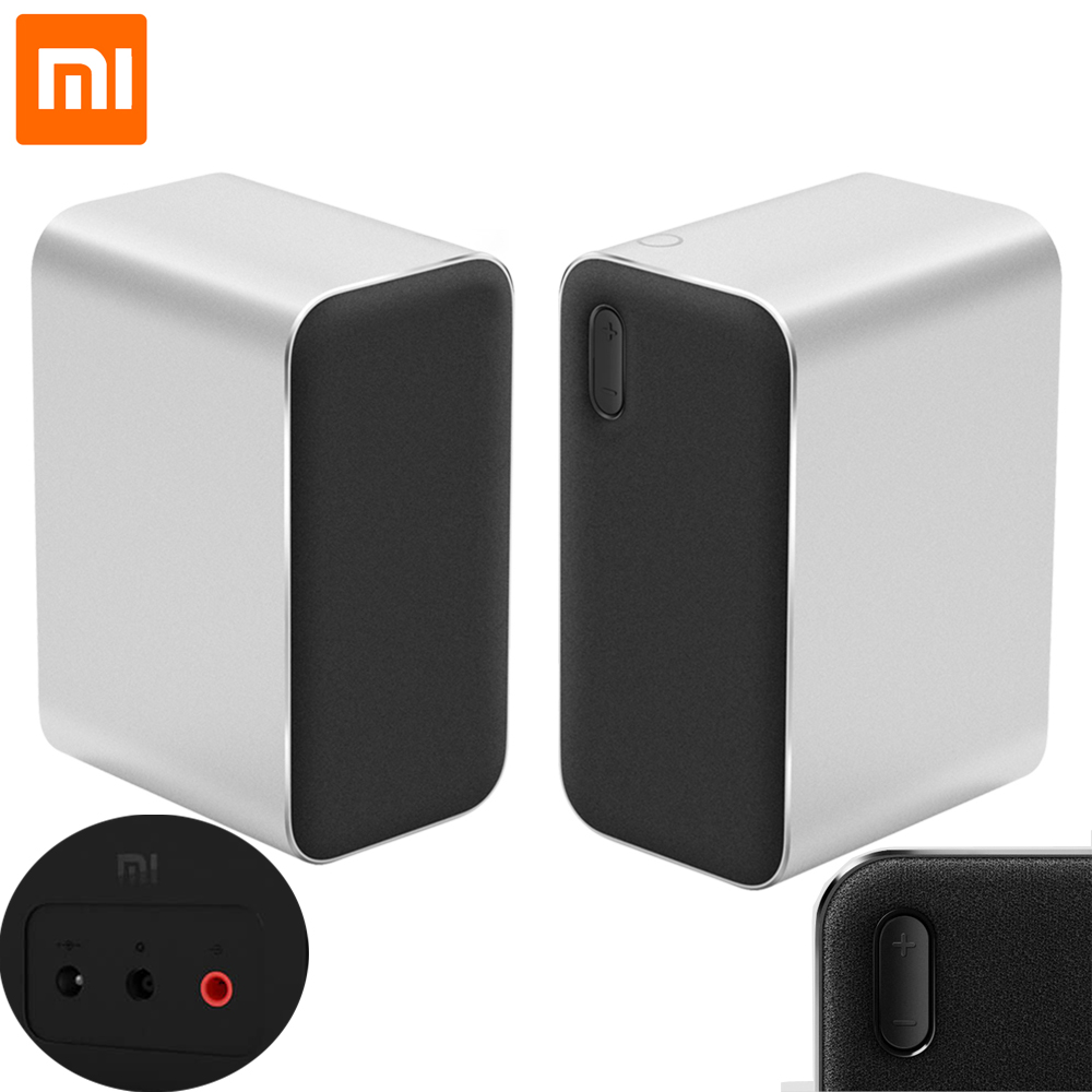 все цены на Original Xiaomi Bluetooth Computer Speaker 12W 2.4GHz Double Bass Basin Stereo Portable Aux DSP With Microphone LED Indicator онлайн