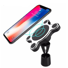 10W magnetic car phone wireless charger bracket FOR: iphone8 plus X Samsung S8+ S9+ Huawei XiaoMi fast charge