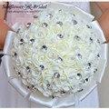 Флер букет свадебная красивые розы букет невесты кристалл свадьба невесты букет свадебные цветы свадебные букеты