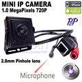 Мини ip камера ip мини 1.0MP ONVIF HD H.264 P2P Мобильного Телефона Видеонаблюдения Ip-камера 2.8 мм МИНИ-объектив