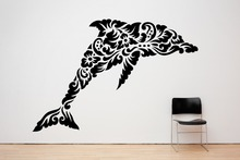 Ocean Sea Animal Wall Decal Dolphin Pattern Vinyl Tribal Stickers For Kids Rooms Livingroom Ethnic Home Mural SYY854