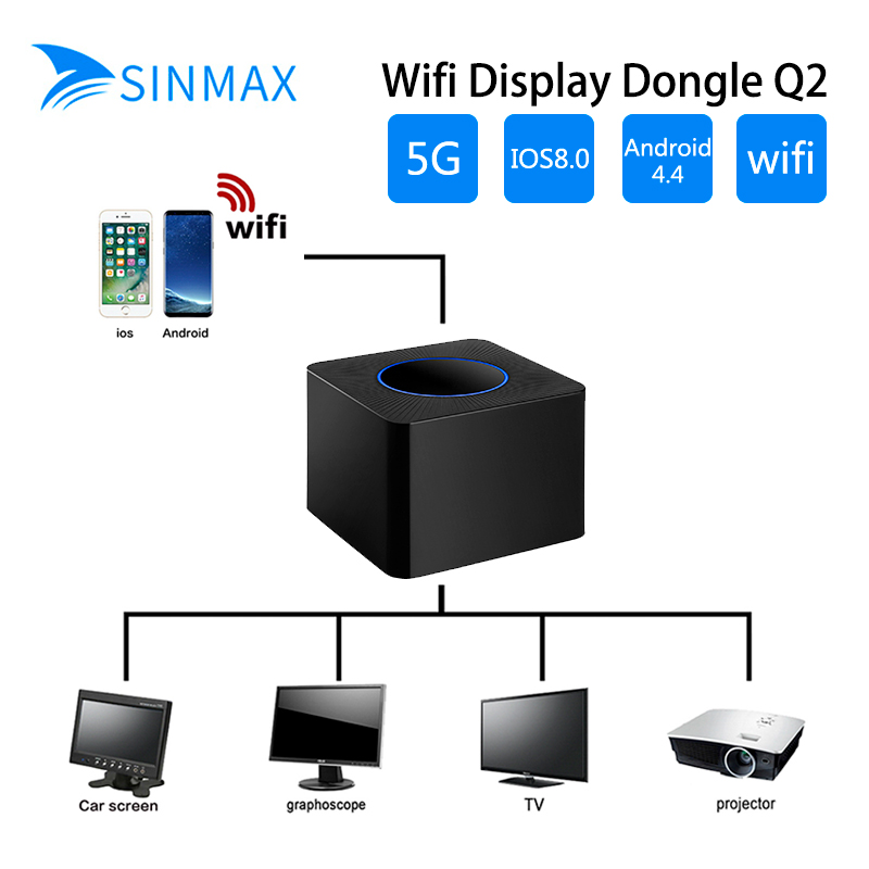 5.8GHz WiFi Miracast Airplay TV Dongle DLNA TV Stick 4K YouTube Video HD AV+HDMI EZCast WiFi display dongle in stock measy a2w 4k tv dongle dual band 2 4ghz 5ghz wifi miracast airplay dlna tv stick support 4k ezcast wifi display dongle
