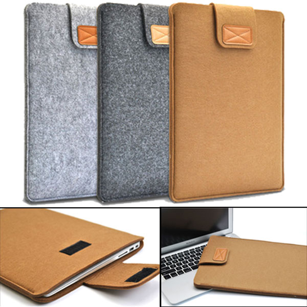 Soft <font><b>Sleeve</b></font> Felt Bag Case Cover Anti-scratch for 11inch/ <font><b>13inch</b></font>/ 15inch Macbook Air Pro Retina Ultrabook <font><b>Laptop</b></font> Tablet QJY99 image