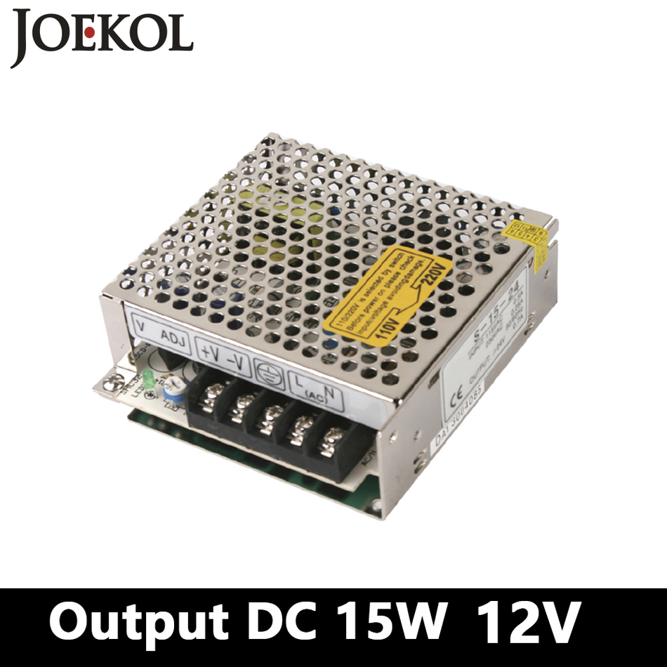 High-quality Mini DC switching power supply 15W 12V 1.25A Single Output for Led Strip,voltage converter AC 110V 220v to DC 12v 1pcs dc12v 21a 250w 12v led strip led module light string enough power high quality long strip switching power supply 12v 20