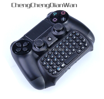 ChengChengDianWan New Top Quality Bluetooth Mini Wireless Handle Keyboard for Sony PS4 Controller Black without the handle 10pcs