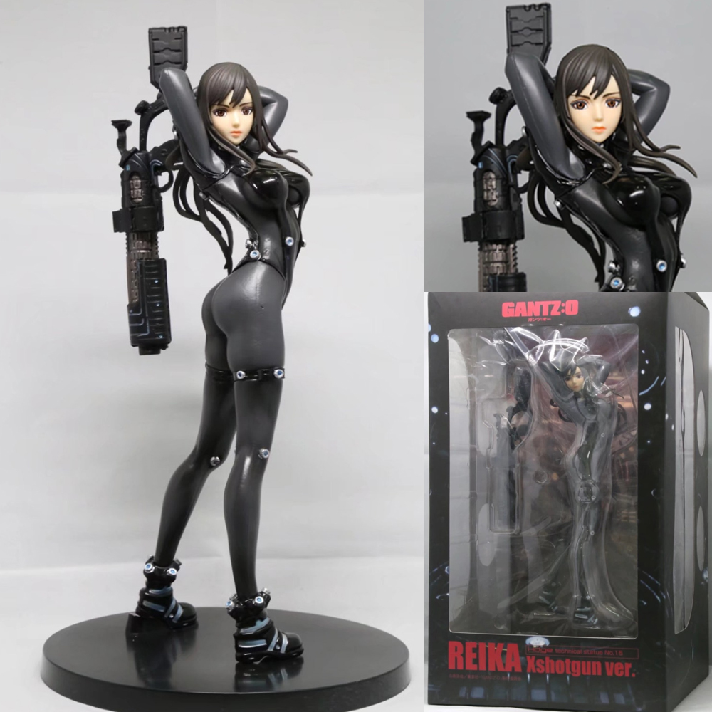 25cm Anime Gantz Shimohira Reika Xshotgun ver. PVC Action Figure Collectible Model Toy anime figma 289 sword art online ii kirito alo ver alover kirigaya kazuto pvc action figure collectible model toy 14cm kt2969