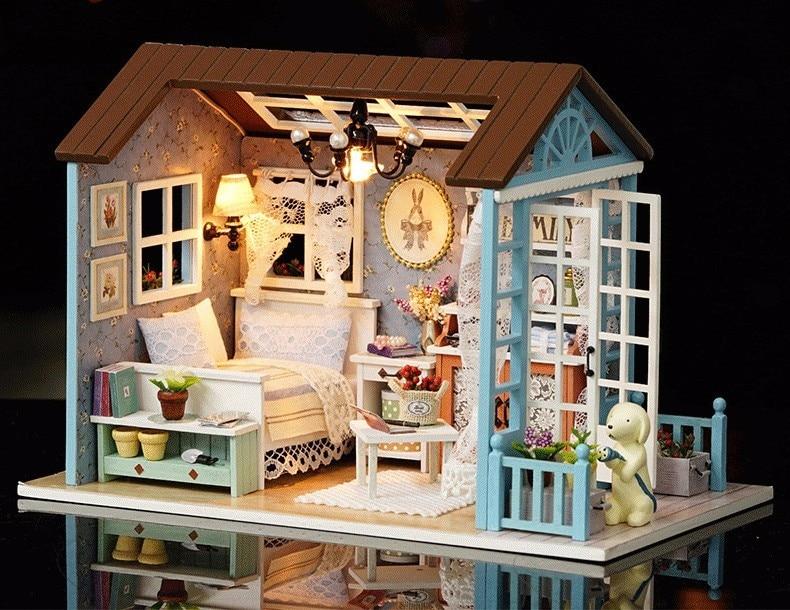 com móveis diy casa em miniatura brinquedos