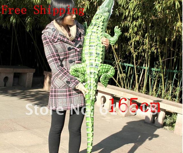Free Shipping!New Arrival 165cm Big Size Simulation Crocodile Plush Toy Cushion Pillow Men's Children Gift  Home Decor