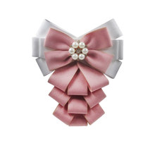 Pure cotton Ribbon Handmade Make Bow Brooches Pins Hot Sale Bowknot Trendy Cloth Clip Charm Women Tie Bow Brooches-231(China)
