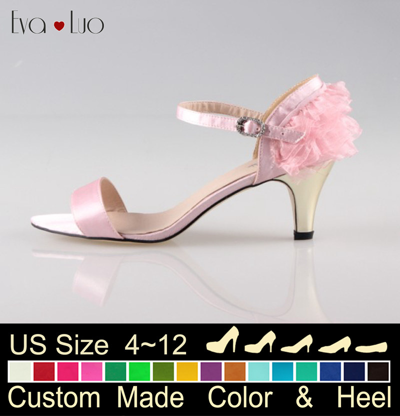 Evening Shoes Low Heel Promotion-Shop for Promotional Evening ... CHS174  Many Colors Custom Handmade Pink Ankle Strap Women Sandals Wedding ... b9a0aa75ba33