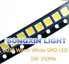 50 pçs/lote 1w smd 3030 lâmpada led grânulo 110-120lm branco quente smd contas led chip led lâmpada luz 1w 3030 led 6v ww