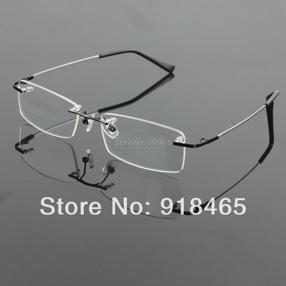 d2db6c64607a1f Rimless Glasses memory titanium flexible men s eyeglasses glasses ...