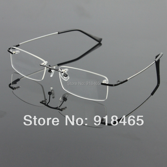 3ba7f79c16 Rimless Glasses memory titanium flexible men s eyeglasses glasses  prescription spectacle optical frame